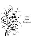 Simple floral background in black and white Royalty Free Stock Photo