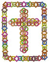 Simple floral Catholic cross Royalty Free Stock Photo