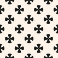 Simple floral pattern. Seamless texture with cross shapes. Royalty Free Stock Photo
