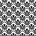 Flower pattern.black and white Seamless floral pattern, geometric texture