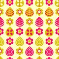 Simple Floral Seamless Pattern Royalty Free Stock Images