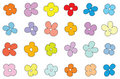 Simple flower pattern Royalty Free Stock Photography