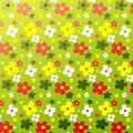 Simple flower pattern colorfulness cute Royalty Free Stock Photo