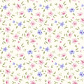 Simple flower pattern floral seamless background your design scrapbooking Royalty Free Stock Images