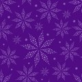 Simple flower silhouettes on purple seamless background pattern Royalty Free Stock Photo