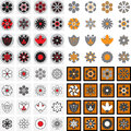 Simple Flower Vector Icons of Different Shapes