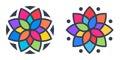 Simple geometric mandala logotype. Circular logo for boutique, flower shop, business, interior.