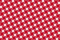 Simple geometric pattern in the colors of the national flag of Bahrain