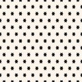 Simple geometric seamless pattern with small stars. Black and white ornament