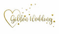 Simple, Golden Wedding  Card Royalty Free Stock Photo