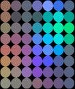 Neon dots mosaic hologram pattern.