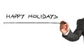 Simple Happy Holidays Greeting