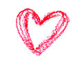 Simple Heart Drawn With A Red ...