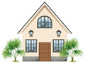 A simple house illustration of on white background Royalty Free Stock Photos