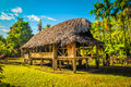 Simple house in village Royalty Free Stock Photo