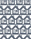 Simple houses continuous vector background property conceptual elements real estate theme building modeling and engineering Royalty Free Stock Image