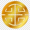 Vector simple icon Icon Golden Chinese Lu / prosperity Symbol, at transparent effect background Royalty Free Stock Photo