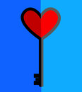 Simple Icon Key And Heart