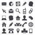 Simple icons for business card and everyday use eps Stock Images