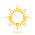 Simple illustration of abstract sun vector Stock Photography