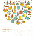 Simple illustration of Happy Easter