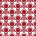 Simple japanese style chrysanthemum seamless pattern traditional flower background can be copied without any seams vector endless Stock Photography