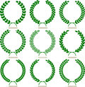Simple laurel wreath set Stock Image