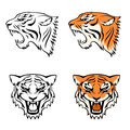 Simple line illustrations of tiger head Royalty Free Stock Photography