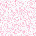 Simple line roses Stock Photos