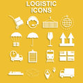 Simple logistics icons set.