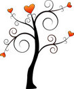 Simple Love Tree Vector Royalty Free Stock Photography