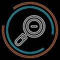 Simple Magnifying Glass Zoom Out Thin Line Vector Icon