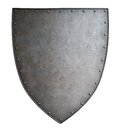 Simple medieval coat of arms metal shield isolated Royalty Free Stock Photo