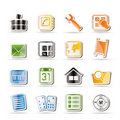 Simple Mobile Phone and Computer icons Stock Images