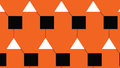 Simple Modern abstract orange conected triangle and square pattern Royalty Free Stock Photo
