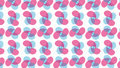 Simple Modern abstract pink and cyan flower petals pattern Royalty Free Stock Photo