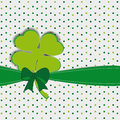 Simple modern card with four-leaf clover Stock Photo