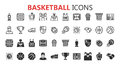 Simple modern set of Basketball icons.