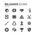 Simple modern set of billiards icons. Premium collection. Vector illustration.
