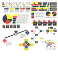 Simple multi-colored infographics with different objects Royalty Free Stock Photo
