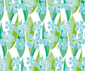 Simple naive flowers pattern. Royalty Free Stock Photo
