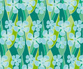 Simple naive flowers seamlss pattern. Royalty Free Stock Photo