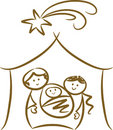 Simple Nativity Scene Stock Photo