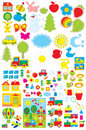 Simple objects for kindergarten Stock Image