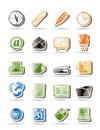 Simple Office tools icons Royalty Free Stock Photography