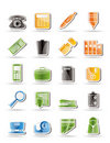 Simple Office tools Icons Stock Photo