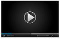 Simple online video player for web in dark colors and style with one button play pause all elements are conveniently grouped Royalty Free Stock Photos