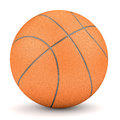 Simple orange basketball isolated on white sport and fitness symbol render of background Royalty Free Stock Image