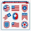 Simple Patriotism Flag Symbols Vector Graphic