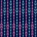 Simple Pink Blue Arrow Vertical Line Seamless Pattern Design | Arr Series